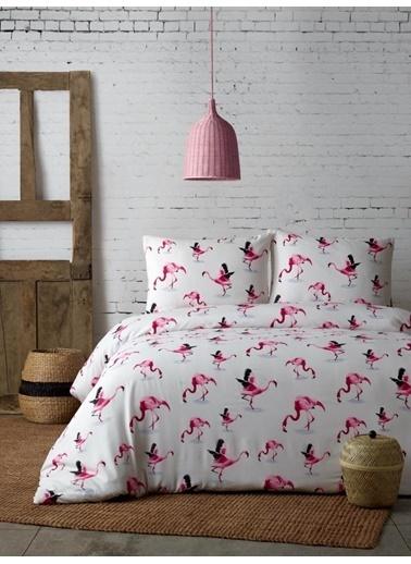 Louis Marie 200 X 220 cm Flamingo Desenli Çift Kişilik Nevresim Takımı Renkli